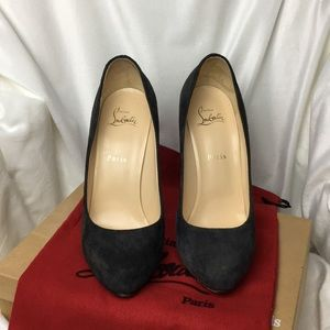 Christian Louboutin Shoes - Christian Louboutin Fetichia 120 Dark Grey Suede